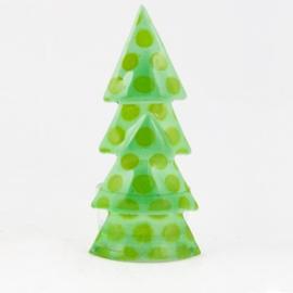 Glaskunst Kerstboom waxine