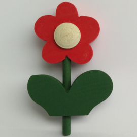 Deco klein Bloem rood