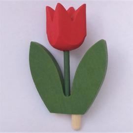 Deco groot Tulp rood (variant B)