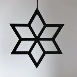 Geometrische ster zwart