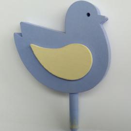 Deco groot Vogel blauw