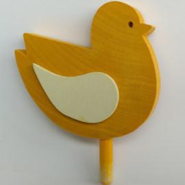 Deco groot Vogel geel