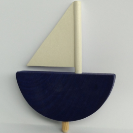 Deco groot Zeilboot blauw