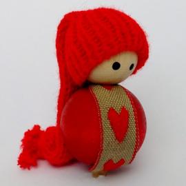 Deco klein Nisse rood