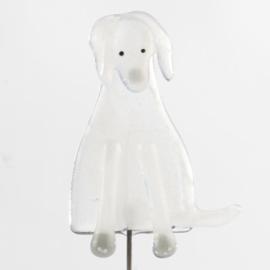 Glaskunst Hond wit
