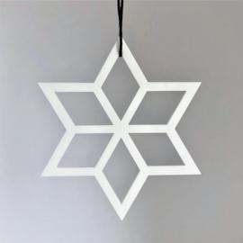 Geometrische ster wit