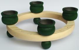 Kaarsenkrans waxine groen