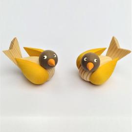 Deco groot Vogels Luxe set geel