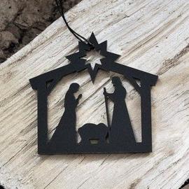Kerststal zwart
