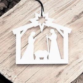 Kerststal wit