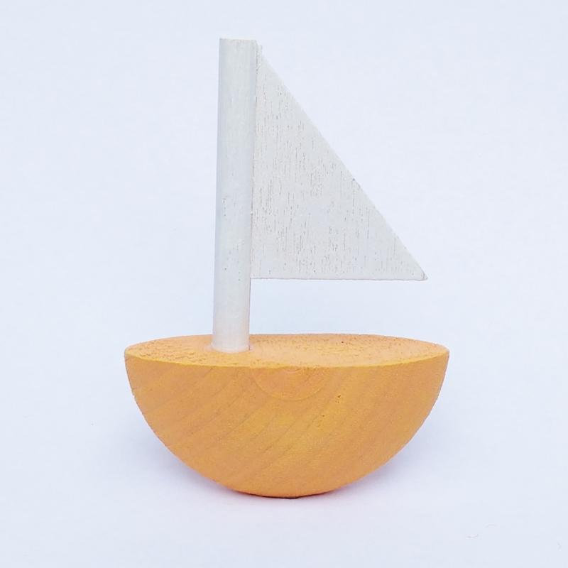 Deco klein Zeilboot oranje