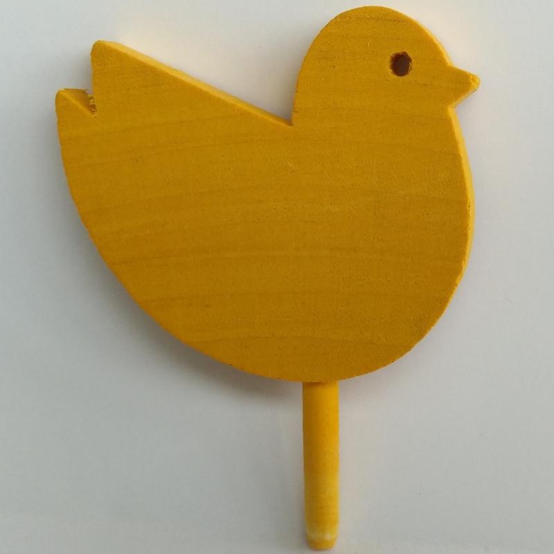 Deco klein Vogel geel