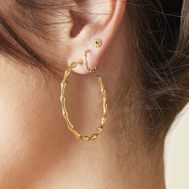 Oorbellen Bamboo Hoops Mini