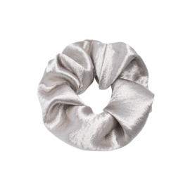Scrunchie Satin Zilver