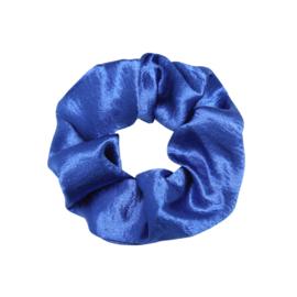 Scrunchie Satin Blauw
