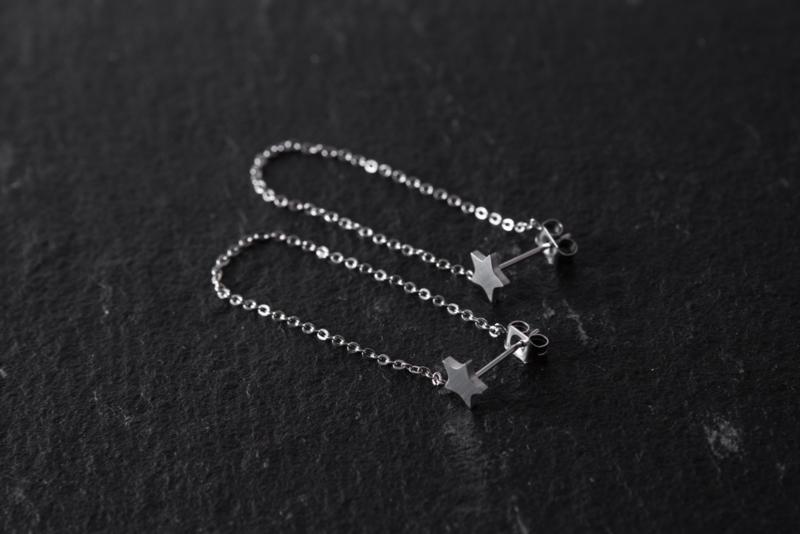 Oorbellen Star chain