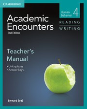 Academic Encounters Second edition Level 4 Teacher's Manual Reading and Writing