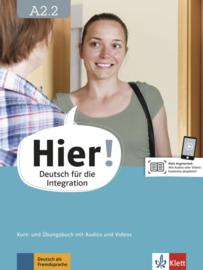 Hier! A2.2 Studentenboek en Übungsbuch met Audios en Videos