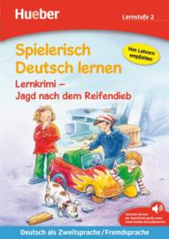 Lernkrimi – Jagd nach dem Reifendieb Buch met MP3-Download