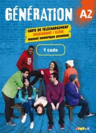 Génération A2 - 1 carte de téléchargement premieum élève/enseignant