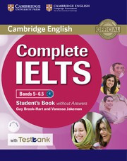 Complete IELTS Bands5-6.5B2 Student's Book without answers with CD-ROM with Testbank
