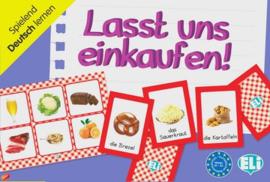 Lasst uns einkaufen! 66 Spielkarten 36 Einkaufslisten met Bingo-Bildern auf der Rückseite Anleitung
