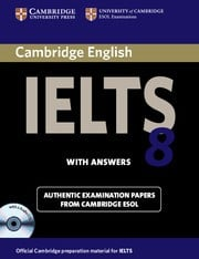 Cambridge IELTS 8 Student's Book Pack(Student's Book with answers and Audio CDs (2))