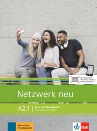 Netzwerk neu A2.1 Studentenboek en Oefenboek met Audios en Videos
