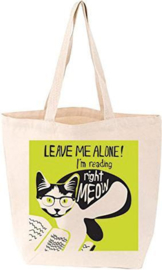 Leave Me Alone! I'm Reading Right Meow Tot-Bag