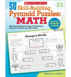 50 Skill-Building Pyramid Puzzles: Math: Grades 2-3
