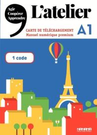 L'Atelier niv .A1 2019 - Manuel numérique premium - Carte de téléchargement élève/enseignant