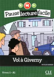 Vol à Giverny - Niveau 1-A1 - Pause lecture facile - Livre + CD