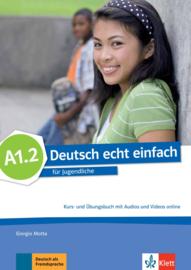Deutsch echt einfach A1.2 Studentenboek en Oefenboek met Audio en Video online