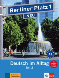 """Berliner Platz 1 NEU Studentenboek en Werkboek Teil 2 met Audio-CD bij het Werkboekteil en """"Im Alltag EXTRA"""""""