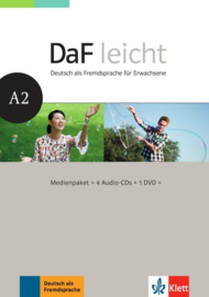 DaF leicht A2 Multimediapakket (4 Audio-CDs + 1 DVD)