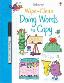 Wipe-clean doing words to copy