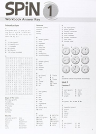Spin 1 Workbook Answer Key
