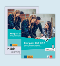 Kompass DaF B2.2 - Media Bundle Studentenboek en Oefenboek met Audio/Video inklusive Lizenzcode für das Studentenboek en Oefenboek met interaktiven Übungen Teil 2