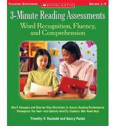 3-Minute Reading Assessments: Word Recognition, Fluency, and Comprehension: Grades 1-4