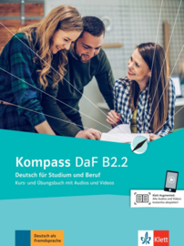 Kompass DaF B2.2 Studentenboek en Oefenboek met Audio en Video