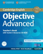 Objective Advanced Fourth edition Teacher's Book with Teacher's Resources Audio CD/CD-ROM