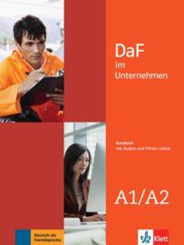 DaF im Unternehmen A1-A2 Studentenboek met Audios en Filmen online