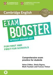 Cambridge English Exam Boosters Booster for First and First for Schools Student's Book without Answer Key with Audio