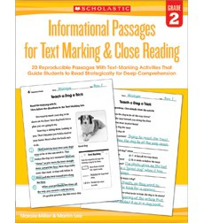Informational Passages for Text Marking  Close Reading: Grade 2