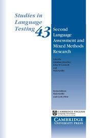 Second Language Assessment and Mixed Methods Research Paperback