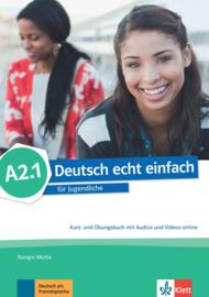 Deutsch echt einfach A2.1 Studentenboek en Oefenboek met Audio en Video online