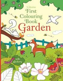 First colouring book: Garden