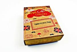 FUN CARD ENGLISH VALENTINE'S DAY