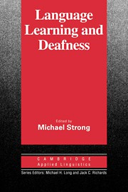 Language Learning and Deafness Paperback