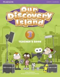 Our Discovery Island Level 3 Docentenboek met code voor leerlingvolgsysteem online spel (Engelstalig)